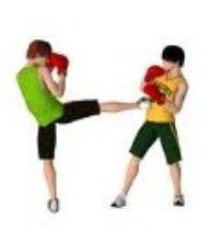 boxeurs en action