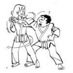 judokas en action