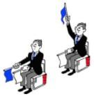 position du juge de coin : désignation du vainqueur
