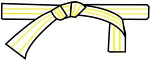 ceinture blanche 2 liserés