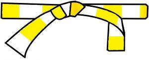 ceinture blanche-jaune