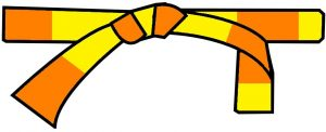 ceinture jaune-orange