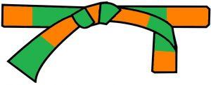 ceinture orange-verte