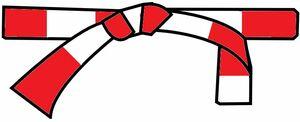 ceinture rouge-blanche