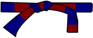 ceinture bleue-marron